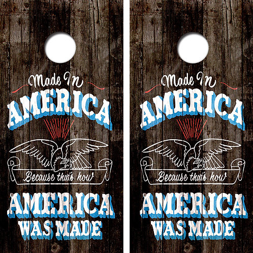 Made in America Cornhole Wood Board Skin Wraps FREE LAMINATE