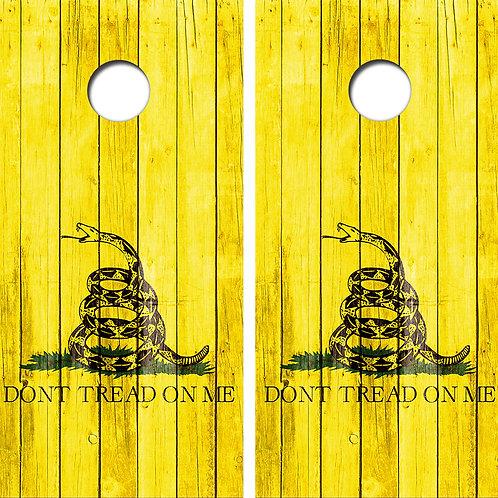 Don't Tread On Me Cornhole Wood Board Skin Wraps FREE LAMINATE