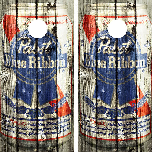 Pabst Blue Ribbon Vintage Can Cornhole Wrap FREE LAMINATE