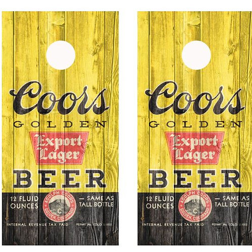 Vintage Coors Golden Lager Can Barnwood Cornhole Wood Board Skin Wrap