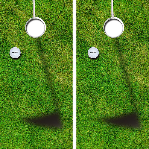 Golf Cornhole Wood Board Skin Wraps FREE LAMINATE
