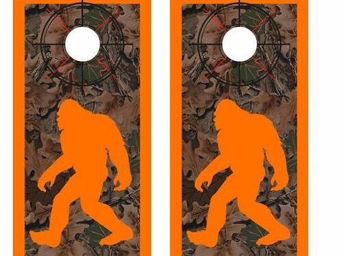 Realtree Bigfoot Hunter Cornhole Wood Board Skin Wraps