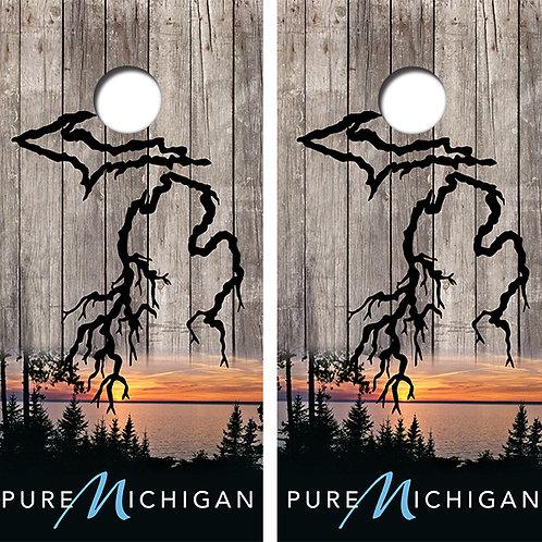Pure Michigan Cornhole Wood Board Skin Wraps FREE LAMINATE