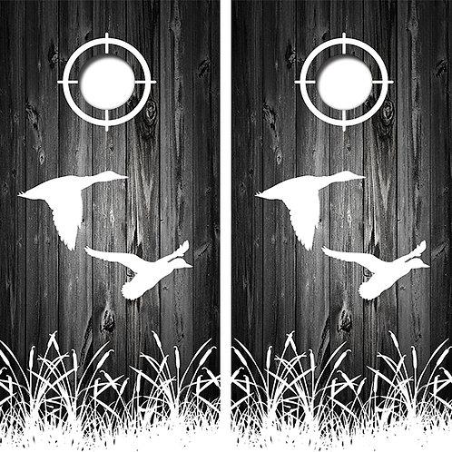 Duck Hunting Cornhole Wood Board Skin Wraps FREE LAMINATE