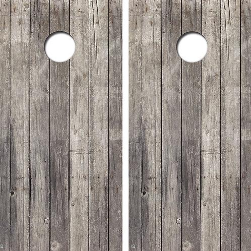Vintage Wood Cornhole Board Skin Wraps FREE LAMINATE