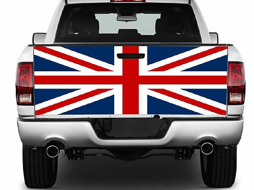 Union Jack Truck Tailgate Wrap Vinyl Graphic Decal Sticker
