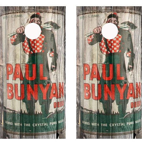 Vintage Paul Bunyan Beer -  Beer Can Barnwood Cornhole Wood B