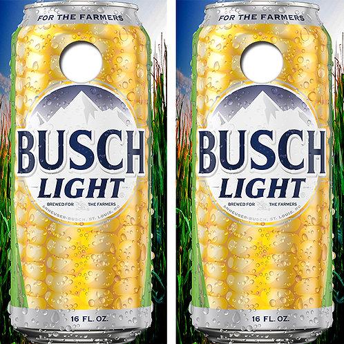 Busch Light Beer For The Farmers Cornhole Wood Board Skin Wraps FREE LAMINATE