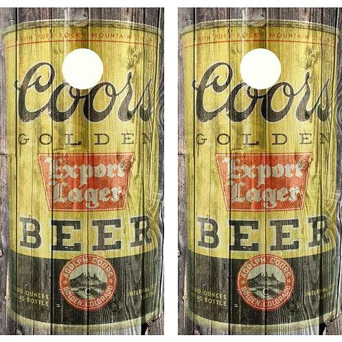Vintage Coors Export Lager Beer - Beer Can Barnwood Cornhole Woo