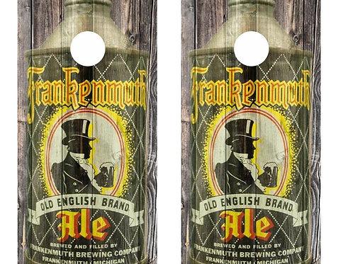 Vintage Frankenmuth Ale - Cone Top Beer Can Barnwood Cornhole Wood Board