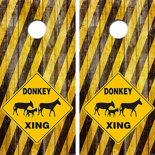 Donkey Crossing Cornhole Board Skin Wraps FREE LAMINATE