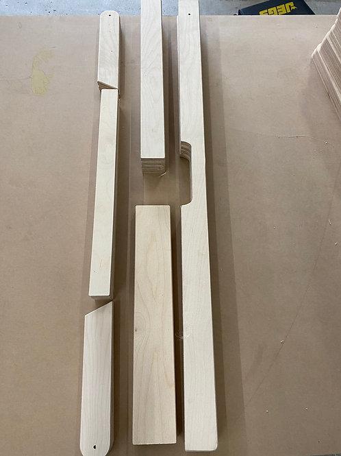 DIY Frame Set Kit Built-In Handles, Legs, Leg Braces, Sides, Ends, Support Brace