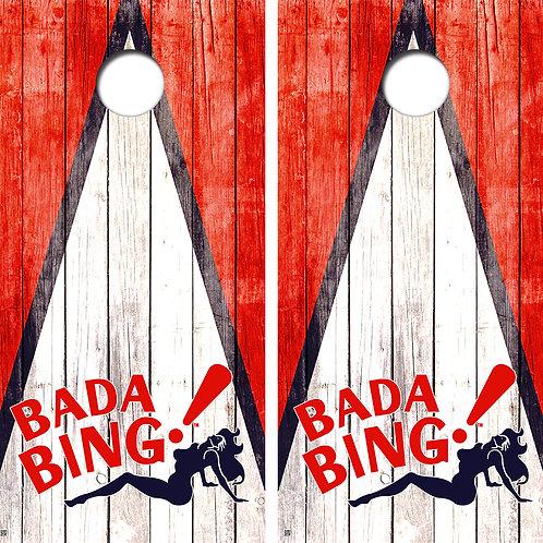 Bada Bing Vintage Cornhole Board Skin Wrap FREE LAMINATE