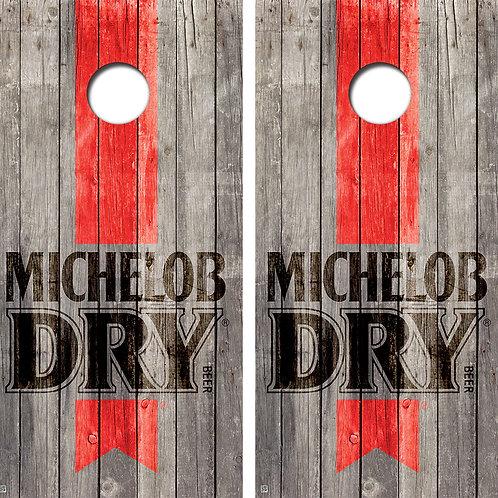 Michelob Dry Cornhole Board Skin Wraps FREE LAMINATE