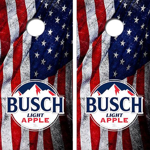 Busch Light Apple Beer Cornhole Wood Board Skin Wraps FREE LAMINATE