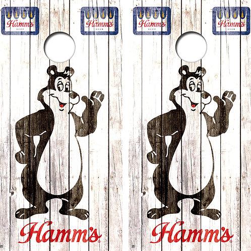 Hamms Wood Cornhole Board Wraps FREE LAMINATE