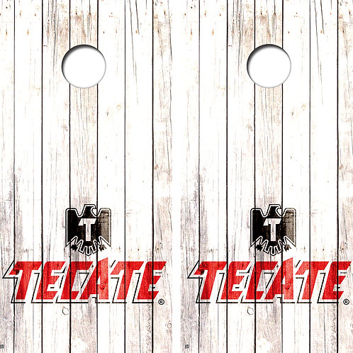 Tecate Wood Cornhole Board Wraps FREE LAMINATE