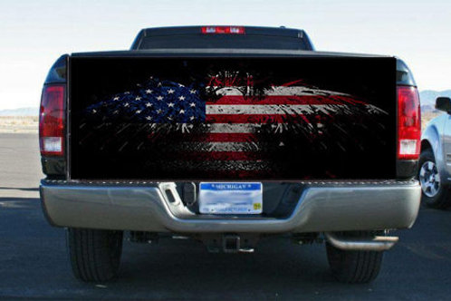 American Flag Eagle USA Truck Tailgate Wrap Vinyl Graphic Decal Sticker Wrap