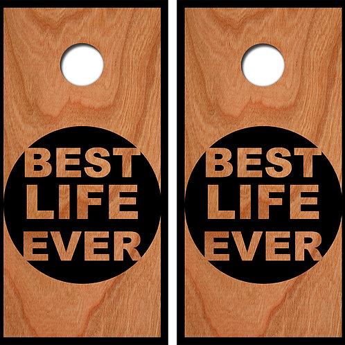 Best Life Ever Cornhole Wood Board Skin Wraps FREE LAMINATE
