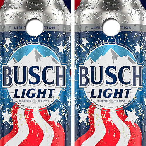 Busch Light Beer Cornhole Wood Board Skin Wraps FREE LAMINATE