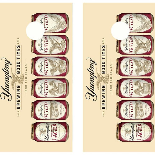 Yuengling Beer Cans Cornhole Wood Board Skin Wraps