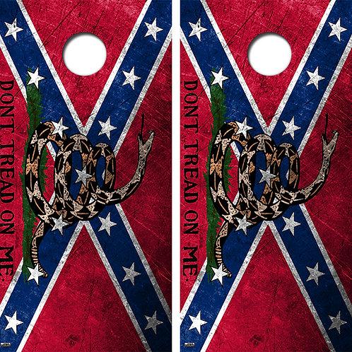 Confederate Flag Dont Tread On Me Board Skin Wrap FREE LAMINATE
