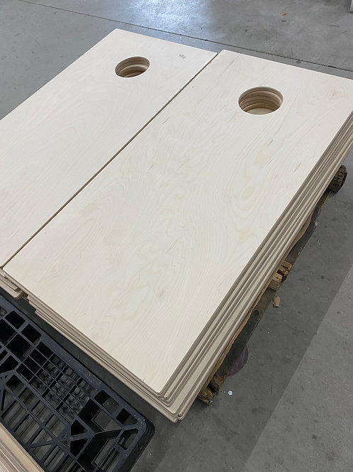 One Set of Plain/Raw Cornhole Tops Baltic Birch Possible Patches