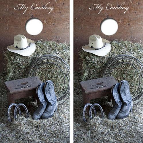 My Cowboy Cornhole Wood Board Skin Wrap