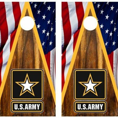 U.S. Army Patriotic Cornhole Wood Board Skin Wraps FREE LAMINATE