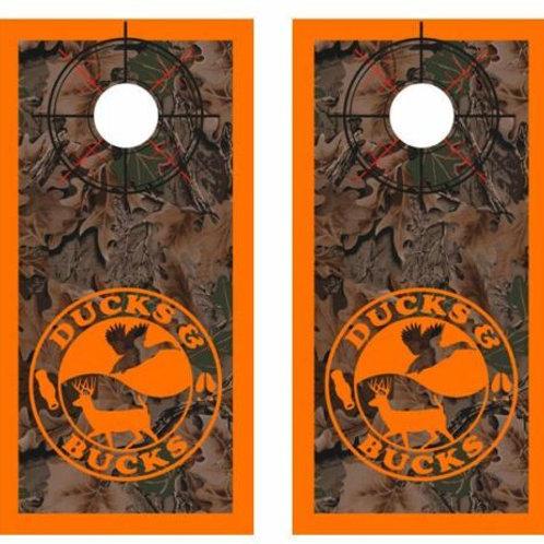 Realtree Camo Ducks & Bucks Cornhole Wood Board Skin Wraps