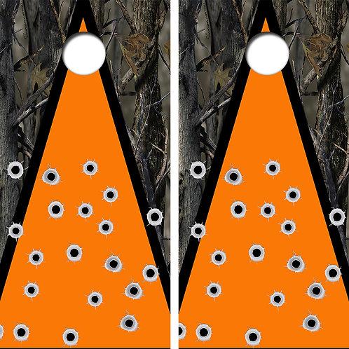 Hunters Bullet Hole Cornhole Board Skin Wrap FREE LAMINATE