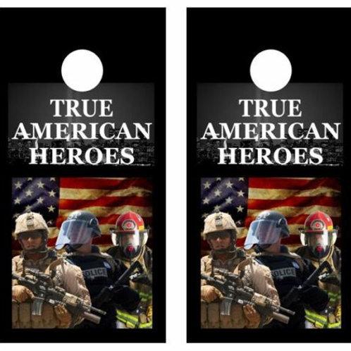 True American Heroes Cornhole Wood Board Skin Wrap