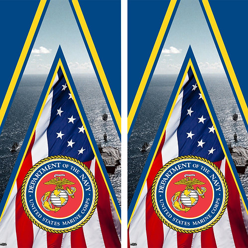 Marine Corps Cornhole Board Skin Wrap FREE LAMINATE