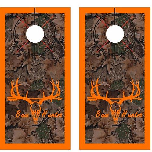 Bow Hunter Camo Cornhole Wood Board Skin Wr