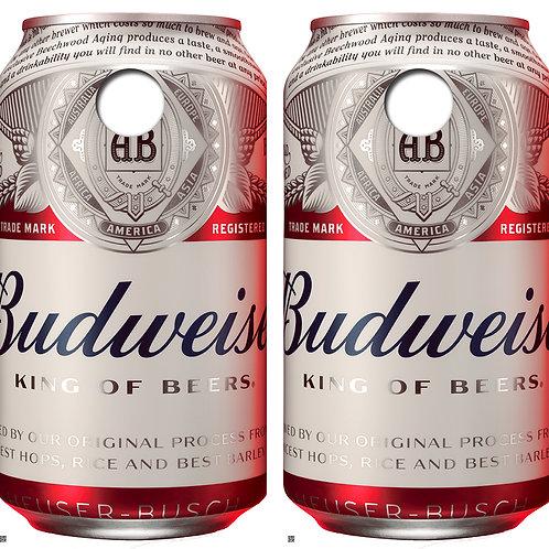 Budweiser Can Cornhole Board Skin Wraps FREE LAMINATE
