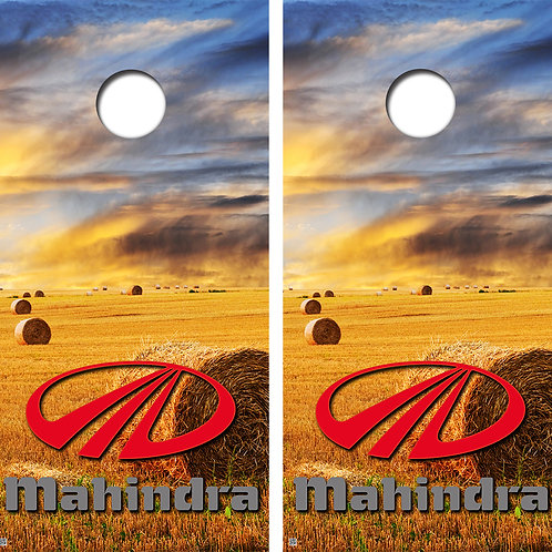 Mahindra Field Cornhole Board Wraps FREE LAMINATE