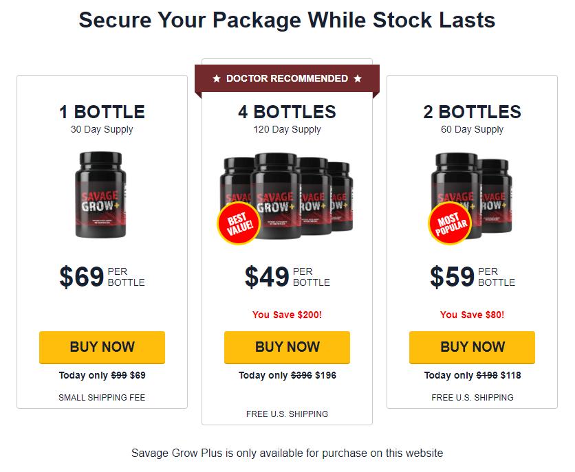 Savage Grow Plus Buy Now