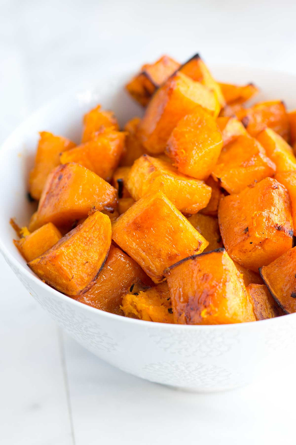 Health benefits of butternut squash include: It is low in fat and  high in fiber which makes it a heart friendly choice.  It provides a significant amount of potassium which is important for bone health, and vitamin B6, essential for the proper functioning of both the nervous and immune systems.