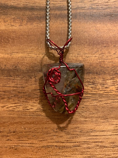 Rutilated Quartz Wire Wrapped Necklace