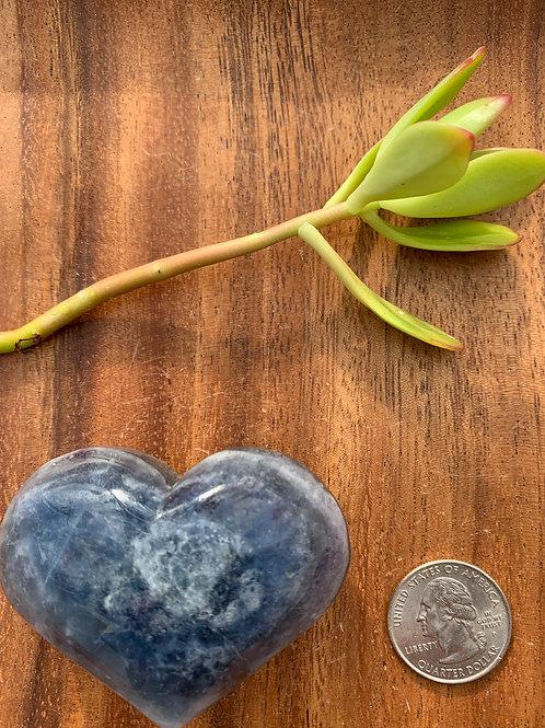 Blue Fluorite Heart