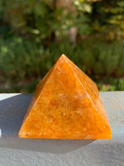 Golden Healer Quartz Pyramid