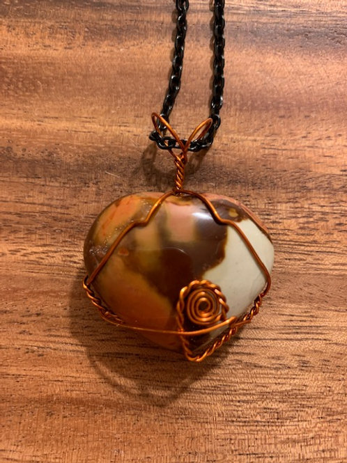 Polychrome Jasper Wire Wrapped Necklace