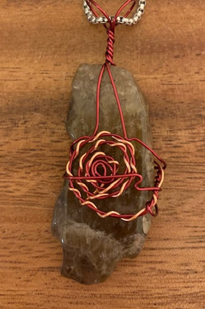 Melody Stone AKA Super 7 Wire Wrapped Necklace