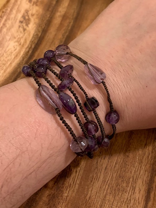 Amethyst Multi-Layer Bracelet