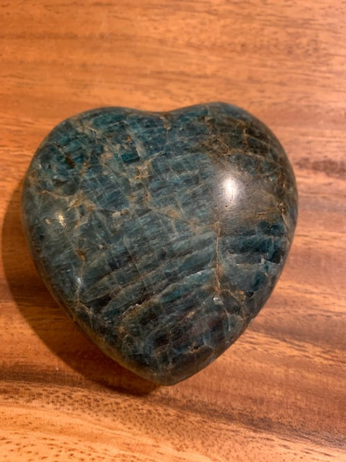Larger Blue Apatite Heart