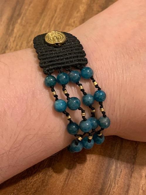 Blue Apatite 70/30 Bracelet