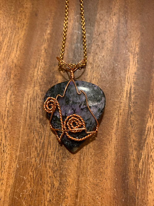 Charoite Wire Wrapped Necklace