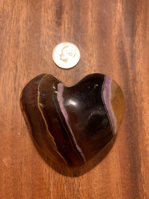 Golden Fluorite Heart