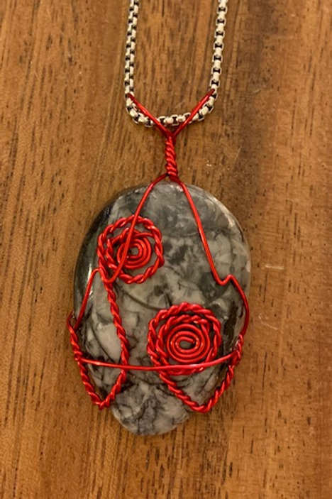 Orthoceras Wire Wrapped Necklace