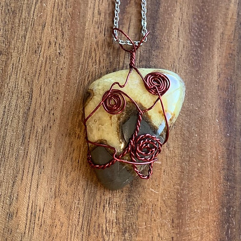 XL Septarian Wire Wrapped Necklace